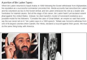 Capture-Bin Laden Tapes & Mahatma Gandhi